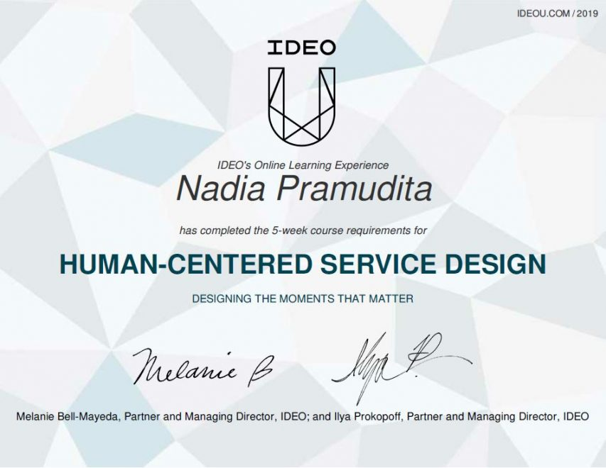 Completed an IDEO U Course